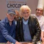 Wall of fame choco story Jean-Paul Belmondo et Remy Julienne